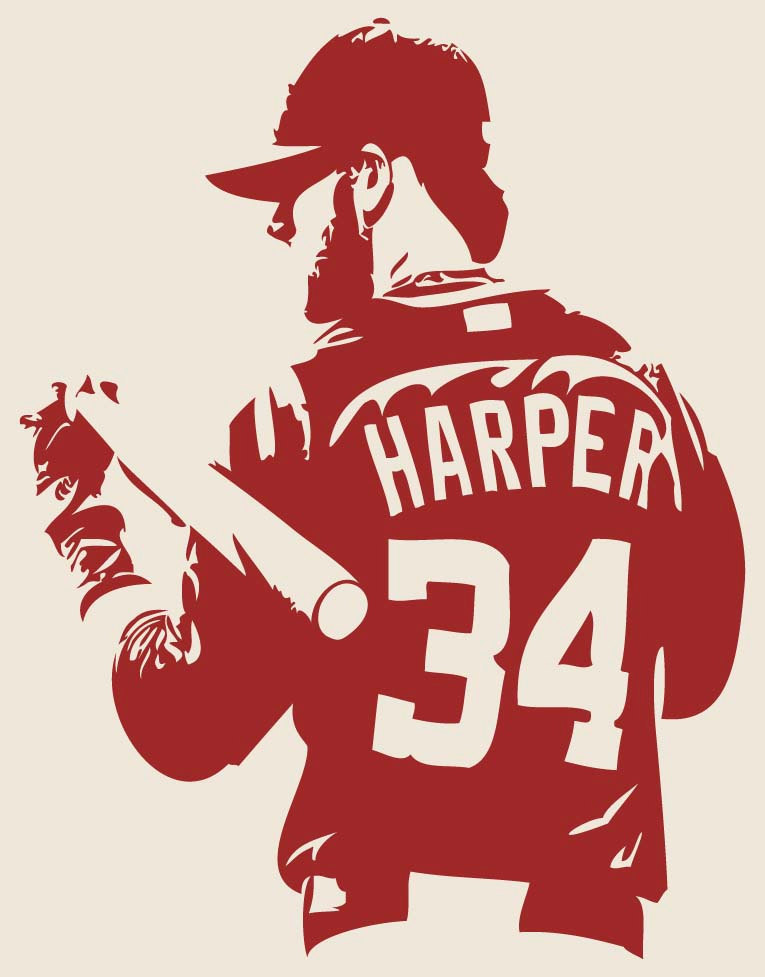 BRYCE HARPER Washington Nationals Baseball Vinyl Decal
