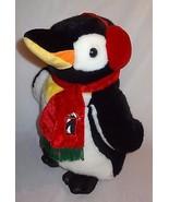 "Penguin Plush Stuffed Animal Large 19"" JC Penny Christmas Black White Ho... - $52.61"