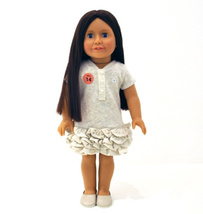 "18"" Vinyl American BJD Doll with Dress Gift Lon... - $59.50"