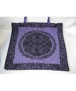 New Large Purple Black Shoulder  Tote Bag Celtic Design - $10.00