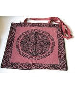New Large Brownish Red Shoulder  Tote Bag Celtic Design  - $10.00
