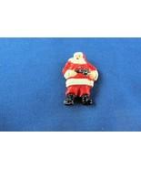 Vintage Christmas Pin 1950's Hard Plastic Santa Free Shipping - $11.75