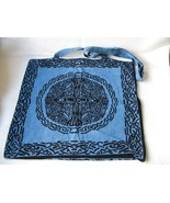 New Large Blue  Black Shoulder  Tote Bag Celtic Design  - $10.00
