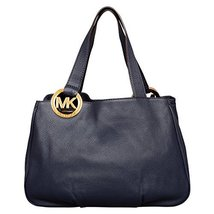 MICHAEL Michael Kors Large Fulton E/W Tote in Navy Blue - $320.00