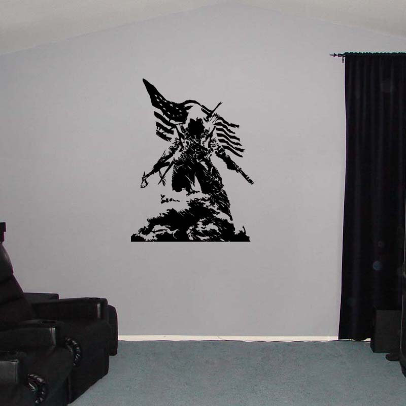 Large Assassin's Creed III Xbox Video Game Vinyl Wall Sticker