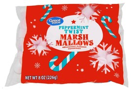 Great Value Peppermint Twist Marshmallows 8 oz bag BB May 2021 Christmas... - $10.99