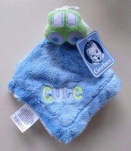 Gerber Baby Blue Green Car Cute Satin Lovey Security Blanket - $24.45