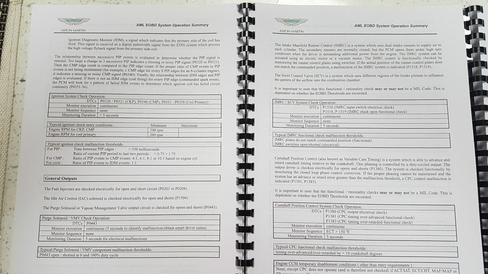 Aston Martin DB9 2010 Eobd Summary and 50 similar items