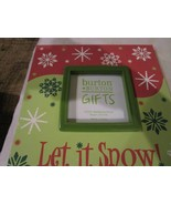 Burton + Burton Gifts Let It Snow Wooden Picture Frame Brand New - $9.99