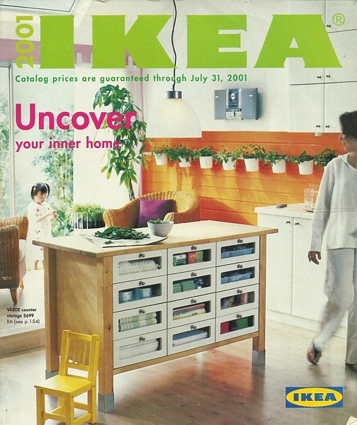 Furniture Stores Catalogs: IKEA 2001 Home Furnishings Store Catalog Magazine