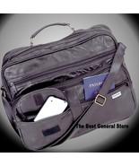 """14"""" Black Leather Shoulder Bag Briefcase Business Tote Carry On Tablet Case - $28.95"""