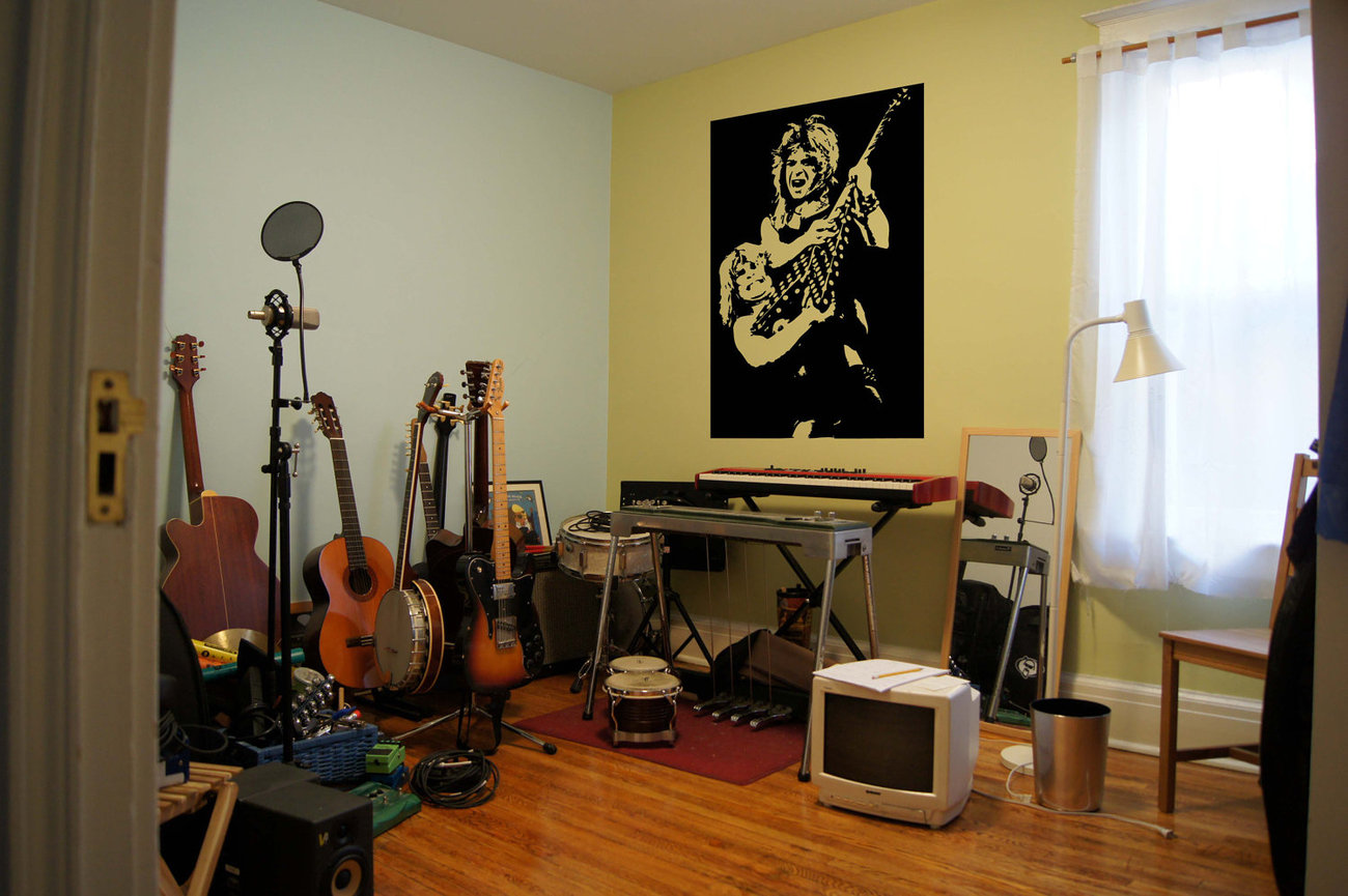 Ozzy Osbourne Randy Rhoads Metal Music Vinyl Wall Sticker Decal