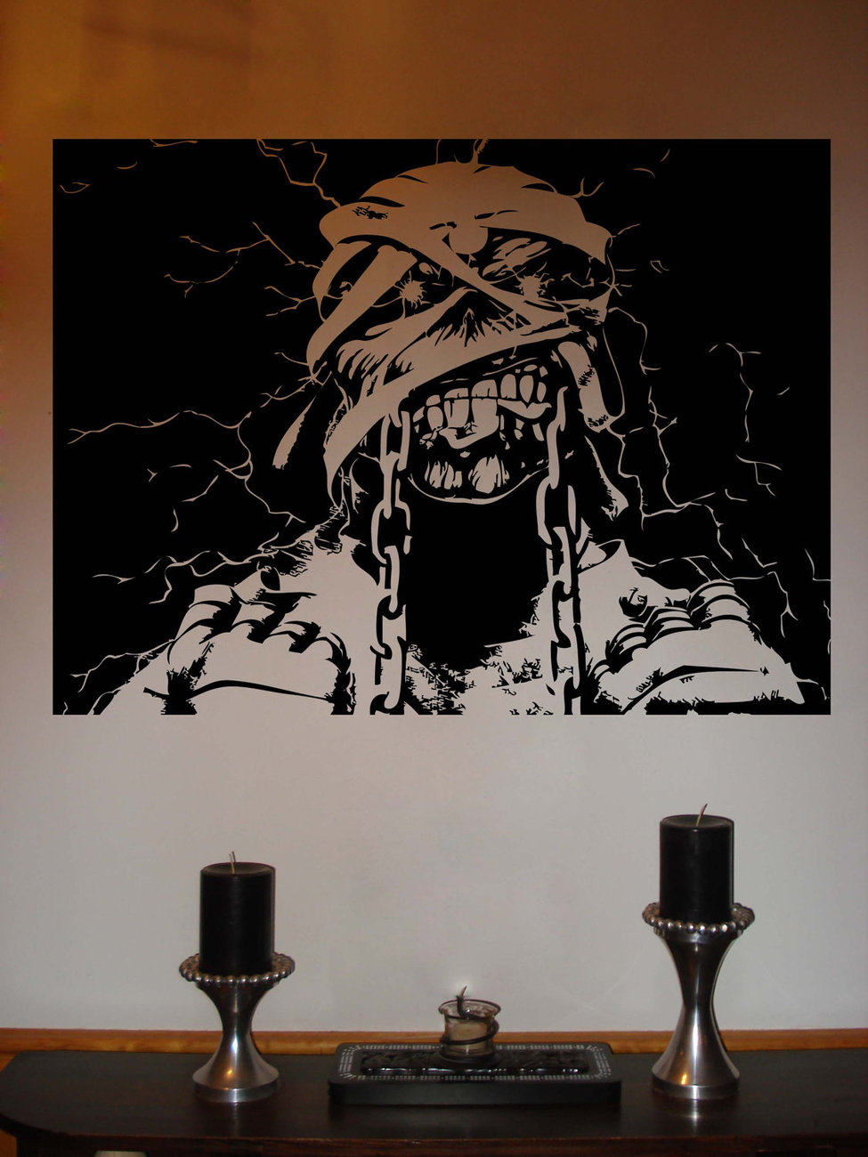 Iron Maiden Eddie Powerslave Metal Vinyl Wall Sticker Decal  28 in w x 22 in h