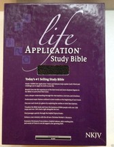Life Application Study Bible NKJV Tyndale Large Black Bonded Leather New... - $49.49