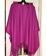 NWT $225 PORTOLANO 100% Wool Shawl Ruana Fringe... - $76.34