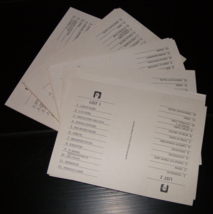 1988 Scattergories Game Category Cards Complete Set 18 - $10.00