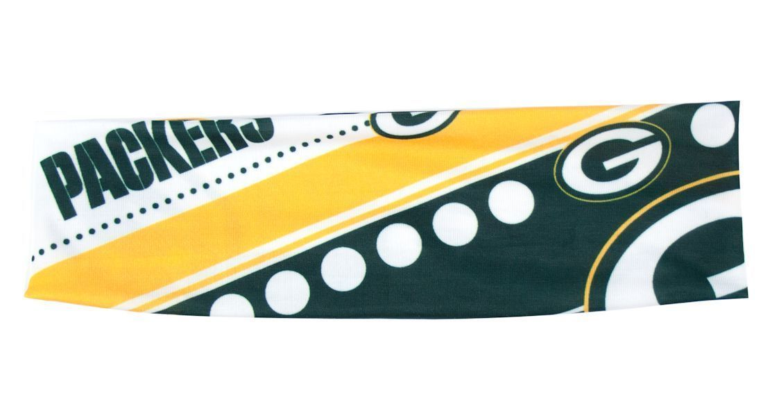 GREEN BAY PACKERS STRETCH PATTERN HEADBAND GAME TAILGATE PARTY TEAM NFL FOOTBALL
