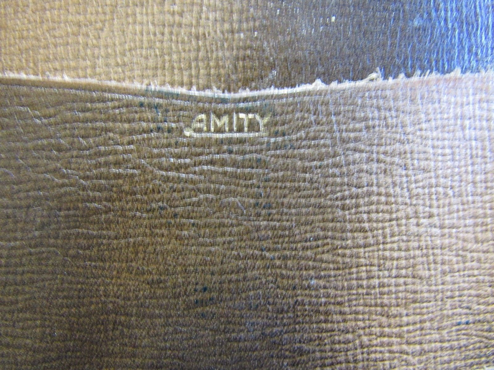 Vintage Amity Billfold Leather Two Tone Brown Wallet Men's Monogram Distressed