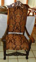 Walnut Carved High Back Entry Chair / Armchair - $699.00