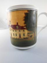 Staffordshire  Bone China Mount Vernon Geaorge Washington's Home Cup Sou... - $8.31