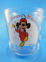 Vintage Disney Mickey Mouse Club 1955 w Mickey Marching Clear Glass Mug ... - $4.15