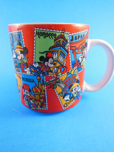 Rare Vintage Disney Stamps of the World Mug Cup Mickey Mouse Japan - $10.39
