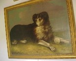 19THC ENGLISH OIL PAINTING OF A DOG WITH BALL LARGE!! - £2,949.71 GBP