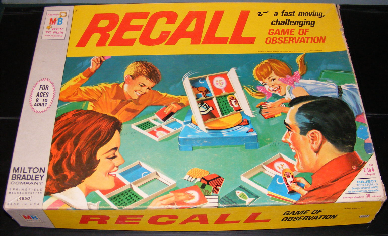 1968 Recall Game of Observation by Milton Bradley - $40.00