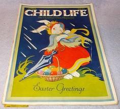 Vintage Child Life Easter Magazine April 1937 Matilda Breuer Cover - $19.95