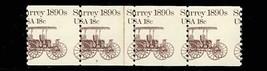 1907, Misperfed Error Strip of Four With PL#8 - Mint NH - Stuart Katz - $30.00