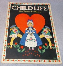 Vintage Child Life Valentine Magazine Feburary 1937 Marie Lawson Cover - $19.95
