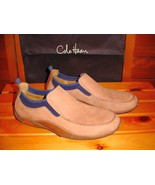 Cole Haan Nike Air Tan & Blue Suede Loafers Mens 10 M - $59.75