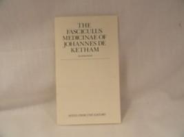 Notes from Editors The Fasciculus Medicinae of Joahnnes De Ketham Alemanus - $2.49