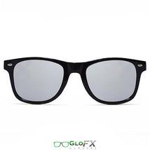 GloFX Diffraction Glasses Black Mirror Silver Mirror Diffraction Lenses EDM Rave - $17.98