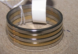 5pc Stackable Stainless Steel Gold & Silver Ring Set Free Shipping - $18.00