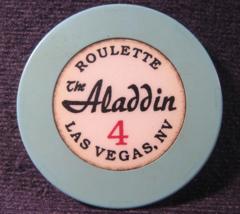 "1995 Roulette Casino Chip From: ""Aladdin Hotel & Casino""- (sku#3872) - $6.99"