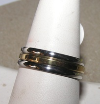 3pc Stackable Stainless Steel Gold & Silver Ring Set Free Shipping - $15.00