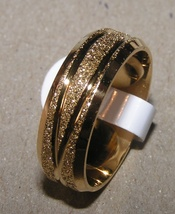Diamond Cut Brushed GF Stainless Steel Band Ring Free Shipping - $25.00