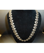 Outstanding Vintage pre-1948  silver link necklace 24'' - $329.00