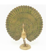 Laiton Vintage Paon Figurine - $34.61
