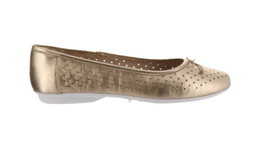 Clarks Perforated Leather Ballet Flats Gracelin Lea Metallic 6.5M NEW A3... - $40.57