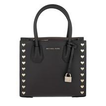 Michael Kors Mercer Medium Heart Studded Handbag Messenger Bag, Black - $196.02