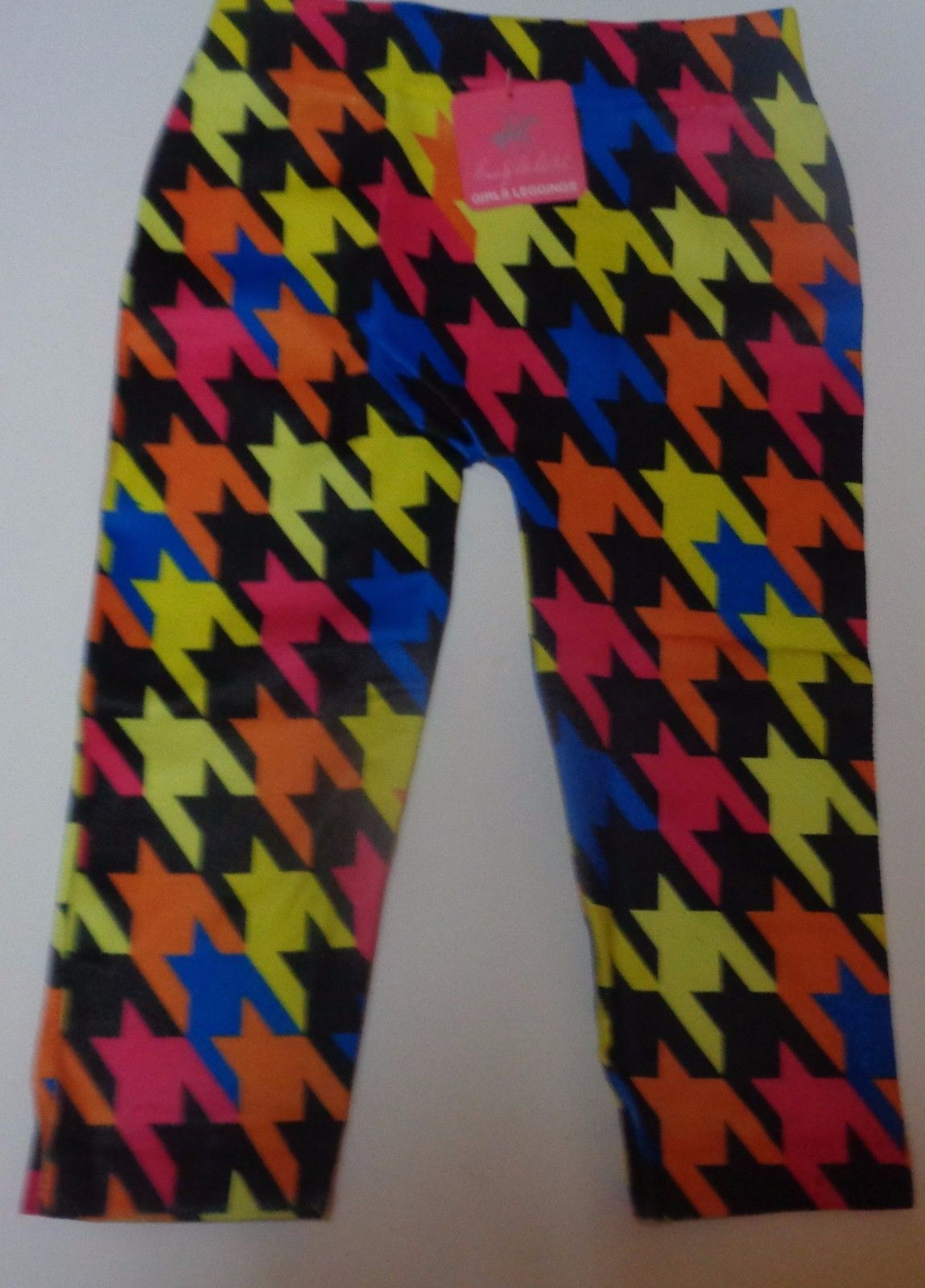 Youth Girls Leggings Geometrical Multi-Color NWT Beverly Hills Sz 2-4, 4-6