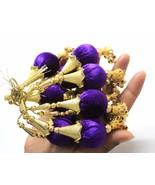 Tassels for decorative set of 5 tassels hanging Indian Boho Gypsy Pompom... - $11.75