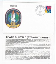 STS-66 ATLANTIS EDWARDS AFB CA NOVEMBER 14 1994 WITH INSERT CARD - $1.78