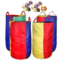 """Potato Sack Race Bags 34""""Hx17""""W(Pack of 4) with Game Prizes(12Pcs) for C... - $36.33"""
