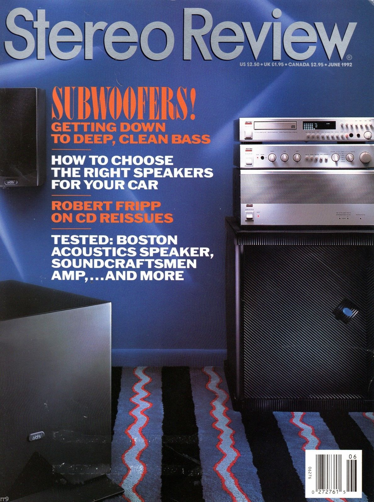 Primary image for Stereo Review Magazine June 1992 Hirsh-Houck, Celestion, Boston Acoustics
