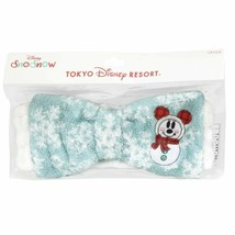 TDR Christmas 2017 Hairband ribbon minnie mouse Snowman Snow Snow Turban... - $52.47
