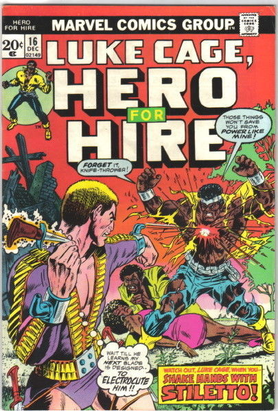 Hero For Hire Comic Book #16, Marvel 1973 VERY FINE