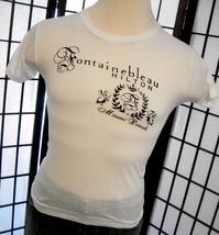 Screen Stars Fontainebleau Hilton Miami Beach 50/50 white tag tee shirt ... - $18.95